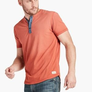 Lucky Brand King's Canyon Brushed Jersey Henley, L